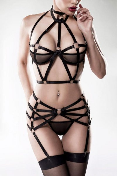 Dreiteiliges Harness-Set mit Strapse