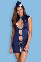 Stewardess-Kostüm in dunkelblau