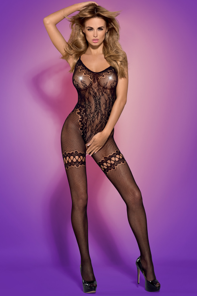 Offenes Bodystocking in schwarz