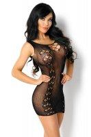 Minikleid Paola aus schwarzem Netz