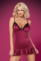 Burgunderrotes Neglige Mably mit String