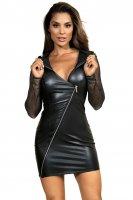 Kleid mit Reißverschluss im Latex-Style