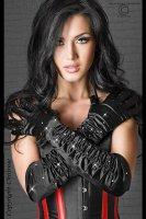 Lange Strass-Handschuhe in schwarz