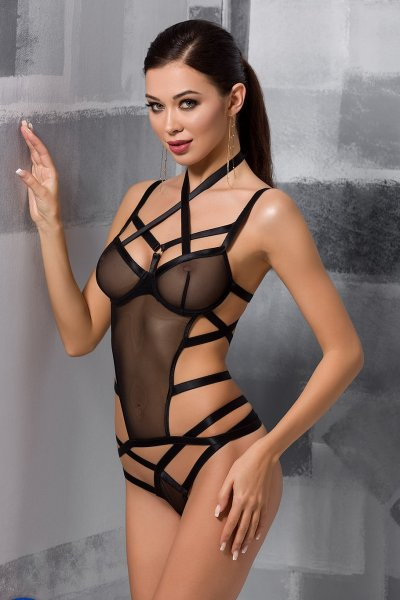 Harness-Body Hagar in schwarz