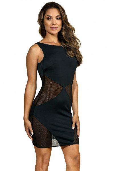 Transparentes Abendkleid in schwarz