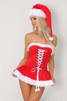 Mini-Korsett im Weihnachtsstyle mit Mütze