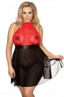 Plus Size Kleid Lydia in schwarz-rot