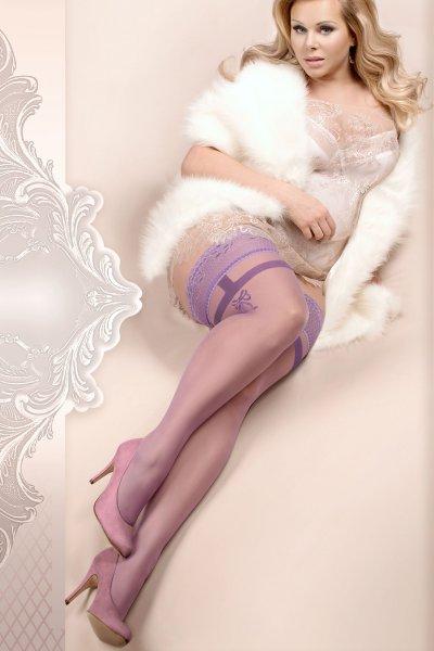 Violette Halterlose Strümpfe in Plus Size