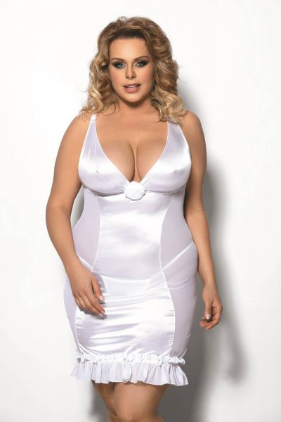 Plus Size Negligee Tanise aus Satin