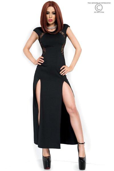 Langes Kleid mit hohen Beinausschnitten