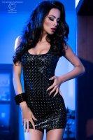 Mini Clubkleid schwarz glänzend