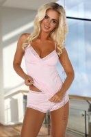 Rosa Pyjama Marcy mit Spitze
