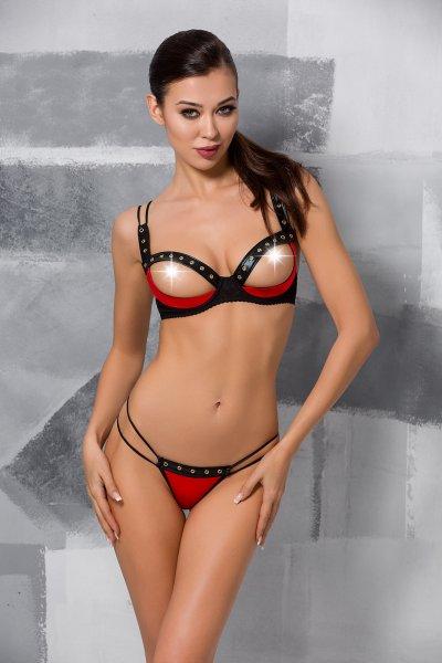 Brustfrei-Set Midori in schwarz-rot